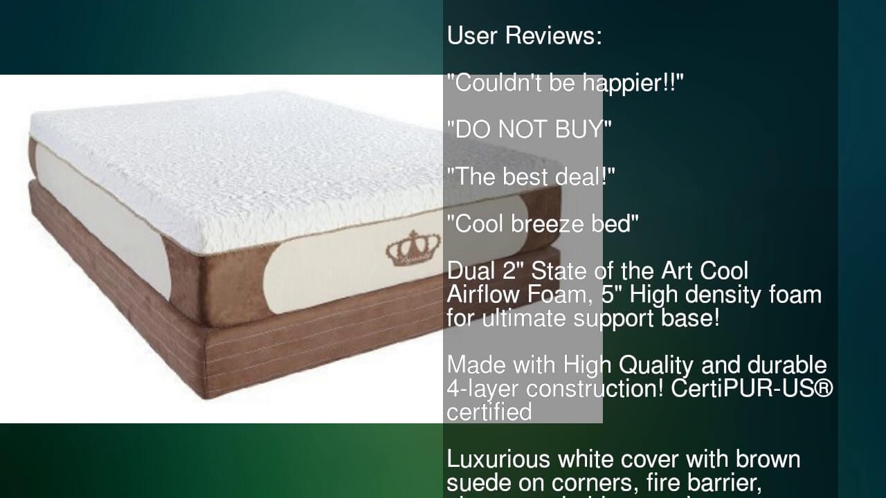 layer gel memory breeze triple cool dynastymattress foam mattress review density inch lucid