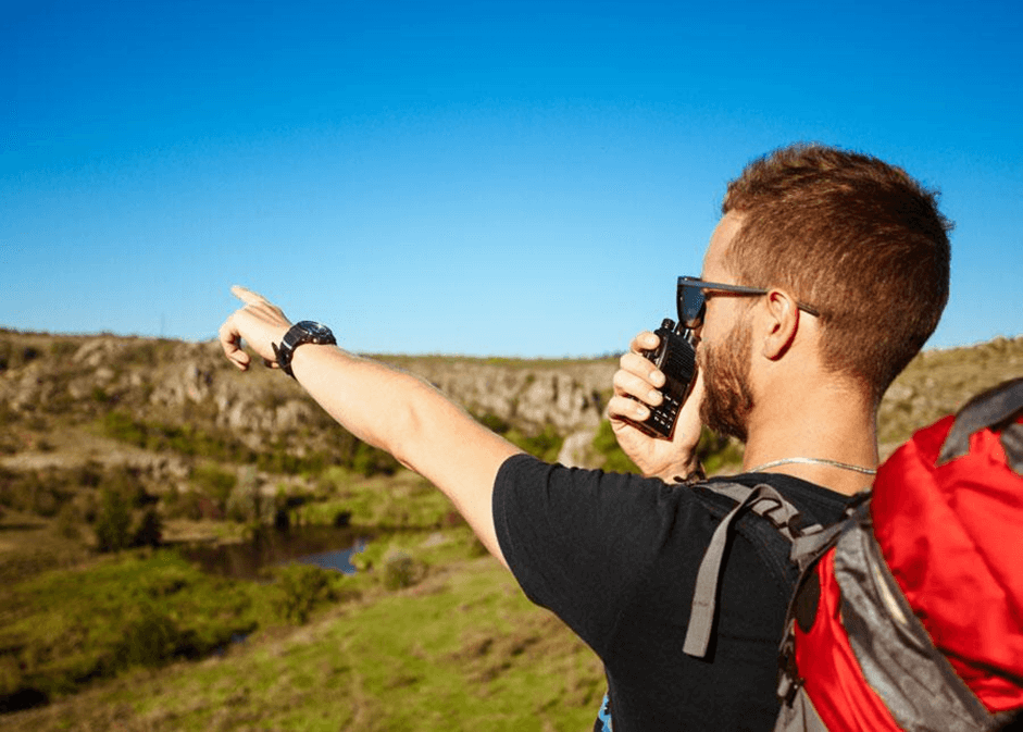 Buy walkie talkies when you go to the wild places