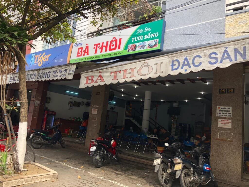 Ba Thoi seafood restaurant